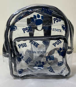 Victorias Secret PINK NWT Penn State University Clear Mini Backpack