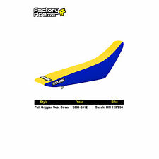 2001-2018 SUZUKI RM 125/250 Blue/Yellow FULL GRIPPER SEAT COVER BY Enjoy MFG