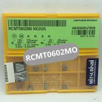 10PCS MITSUBISHI RCMT0602M0 NX2525 RCMT0602MO NX2525 Carbide Inserts NEW