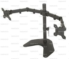 "EZM Basic Dual LCD Monitor Mount Stand Free Standing - Up to 27"" (002-0009)"