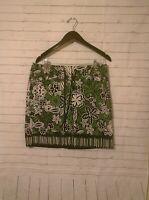 Women's Ann Taylor LOFT Petites Green Floral Drawstring Skirt, Size 12p