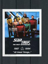 St Vincent & Grenadines 1994 MNH Star Trek Next Generation 1v S/S Picard Stamps