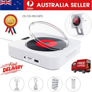 USB FM Remote Control Hifi Speaker CD Player Wall Bluetooth Mounted Audio NEW AU
