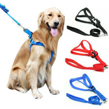 Soft Padded Nylon Dog Step-In Harness and Leash Strap Vest Small Large Pet Dogs