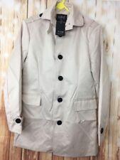 BNWT Men's  Senior Beige Smart Formal Elegant Trench Coat Single Breasted L