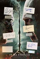 HARRY POTTER Daniel Radcliffe JK Rowling film hand signed mounted frame
