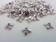 120 PCE Dainty Tibetan Silver Leaf Bead Cap 8mm