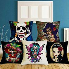 """18"""" Festival Gift Christmas Decor Girl Year Skull New Pillowcase Cushion Cover"""