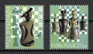 Färöer Mi.Nr. 989-990** (2020) postfrisch/Schach