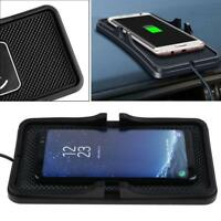 Qi Wireless Charger Car Dashboard Mount Holder Charging Mat for iPhone Samsung