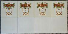 A. MEAKIN - ENGLAND ANTIQUE ART NOUVEAU MAJOLICA 8 - TILE SET C1900