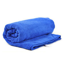 Car 30cm x 70cm Blue Soft Microfiber Absorbent Towel Clean Dry Polish Cloth YU