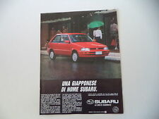 advertising Pubblicità 1990 SUBARU JUSTY
