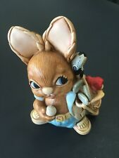 Pendelfin Rabbit Birdie Golpher In Blue Hand Painted Stoneware Made In England