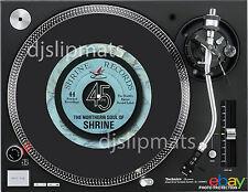 Ltd. Edition SHRINE Records 7 inch Pro DJ SLIPMAT Northern Soul platter mat RARE