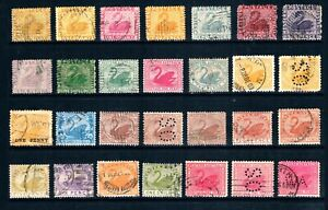 Western Australia a Collection of State Postage Stamps