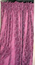 """Insulated Burgundy Design Curtains 42""""  Wide,54"""" Long, Made in the USA"""