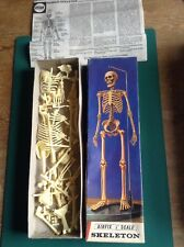 AIRFIX 12 in (environ 30.48 cm) skeliton RARE origianal 1/6 TH années 1960 Kit. Squelette Complet.