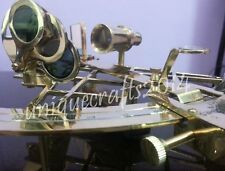 Heavy Brass Nautical Sextant Collectible Working Maritime ship Instrument Item.