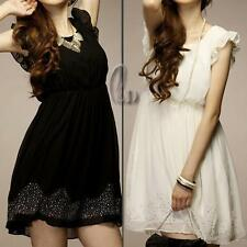 Chiffon Hand-wash Only Solid Petite Dresses for Women