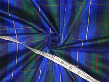 "Scottish Tartan Check ~ Silk Dupioni Fabric Width 54"" DUPC11"