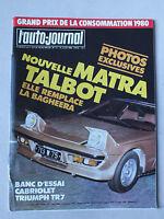 L AUTO JOURNAL - BIMENSUEL N° 11 - 15 JUIN 1980 *