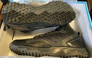 Boombah Berzerk Men's Softball Cleats Turf Shoes Charcoal Grey Black 11.0 Mens
