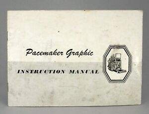 GENUINE PACEMAKER GRAPHIC INSTRUCTION MANUAL!! EXCELLENT CONDITION!!