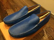 500$ Tod's Blue Zaffiro Gommino Moccasins Size US 12 Made In Italy