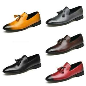 Mens Low Top Business Leisure Shoes Tassels Oxfords Work Slip on Office Casual L