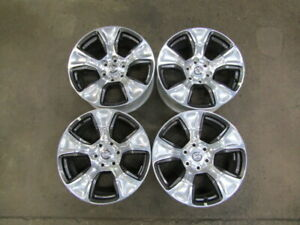 "Dodge Ram 1500 2020 20"" OEM Wheel Rim Polished Charcoal 6 LUG NEW TAKEOFF"