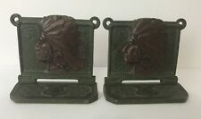 Rare ANTIQUE NATIVE AMERICAN WESTERN INDIAN SWASTIKA BOOKENDS CAST IRON Judd