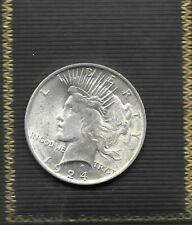 BU 1924 Philadelphia Mint Silver Peace Dollar