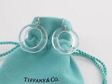 Tiffany & Co Platinum Peretti Sevillana Crystal Circle Dangle Dangling Earrings!