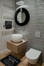 Tile Samples: London XL Warm Grey Bevelled Gloss Metro Wall Tiles 10 X 30cm