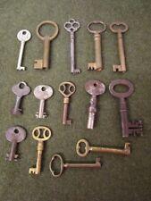 Original Vintage Skeleton Key Lot / 14 OLD Skeleton Keys!!