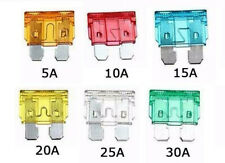 Car Fuses 50pcs Assorted Standard Blade Fuse Set  5,10,15,20,25,30 = 50 Total