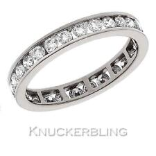 Diamond Eternity Ring 1.00ct Certified D Flawless Brilliant Cut 18ct White Gold
