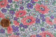 ONE VINTAGE FEEDSACK Purple & Pink Cluster of Flowers  37 x 44 PRISTINE!