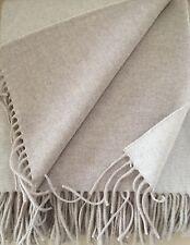 Lana Cuadros Doble Cara con lana de cachemira, colcha 135x165 cm 100% Lana