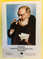 Saint Padre Pio 3rd Class Relic,+ Efficacious Novena, New From Italy Item #004