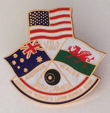 Australia Wales Rim Games USA 1997 American Bowling Club Badge Pin Flag (M22)