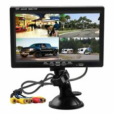 Podofo 7 Inch HD 4 Split Quad Video Displays TFT LCD Rear View Monitor For Car &