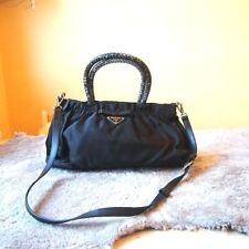 Original PRADA 2way Umhängetasche Handtasche Tasche shoulder bag schwarz black