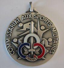 COMMISSARIAT aux Sports Militaires Médaille Championnat de France Argent