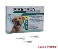 3 Pipetas PIRETRON (Perros +15Kg) Anti Pulgas, Leishmaniosis, Garrapatas