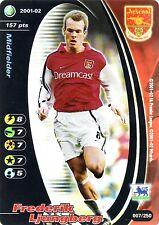 FOOTBALL CHAMPIONS 2001-02 Frederik Ljungberg 007/250 Arsenal F.C. FOIL