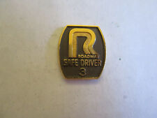 Roadway 6yr Trucking Truck Driver Employee Safety Award Pin