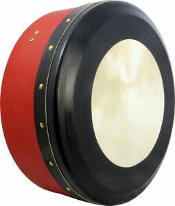 Glenluce Kilrush Professional Bodhran (Irish Drum), RED. Tool-free tuning. 14in