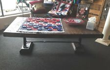 Reclaimed Wood Coffee Table Cast Iron Legs Industrial Cool Unique!